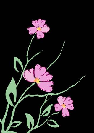 old wallpaper: Flower pattern for design as a background  Illustration