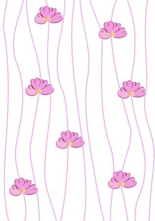 fabric art: seamless abstract flower pattern