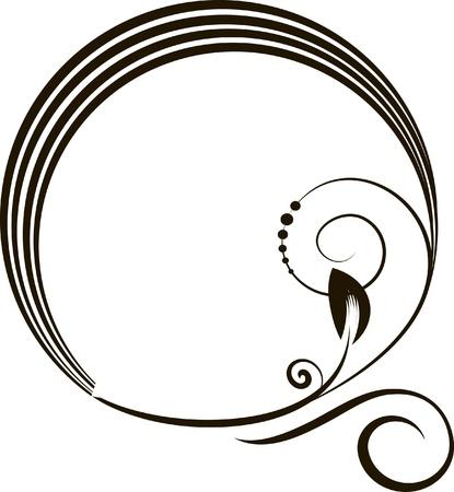decoratieve ovale frame - element voor ontwerp in vintage stijl