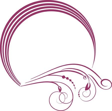 decorative frame - element for design in vintage style