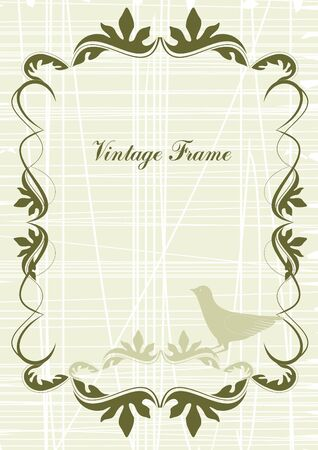 Vintage frame in victorian style Stock Vector - 13814367