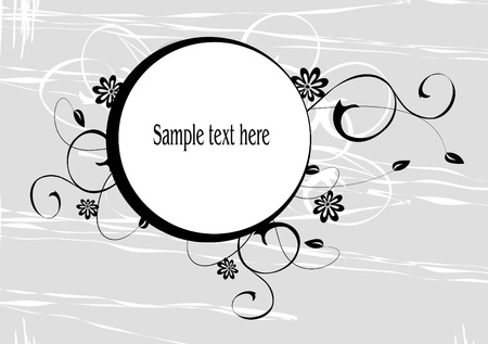 floral background with decorative branch Stock Vector - 13964743