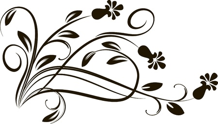 decorative branch in vintage styled for design  Vector