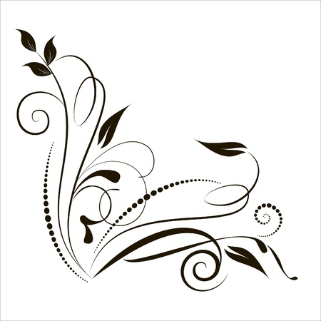 decorative branch in vintage styled for design Stock Vector - 14228151