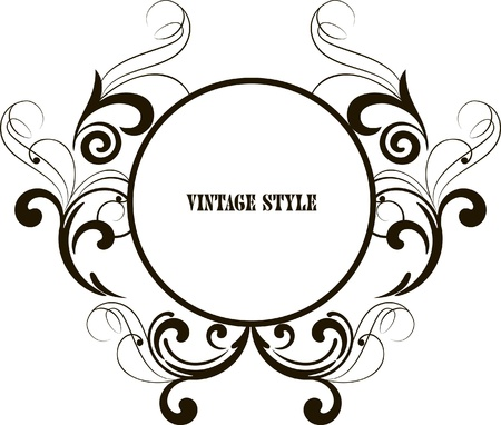 baroque style: decorative oval frame for design in vintage styled Illustration