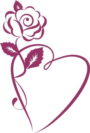 romantico: Fondo abstracto - tarjeta de boda