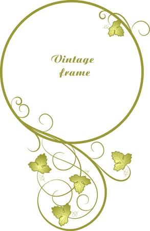 decorative oval frame for design in vintage styled Vector