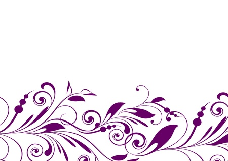 floral background with decorative branch  Vector