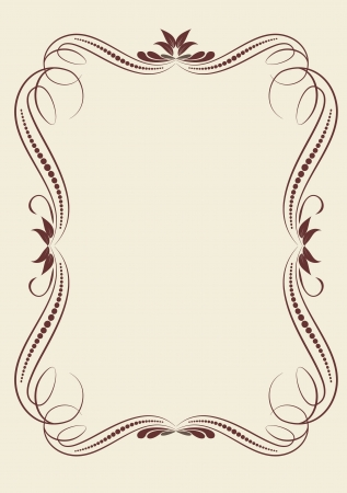 decorative vintage frame Illustration