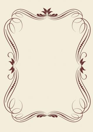 flower decoration: decorative vintage frame Illustration