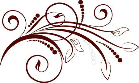 gothic design: floral background with decorative branch Illustration