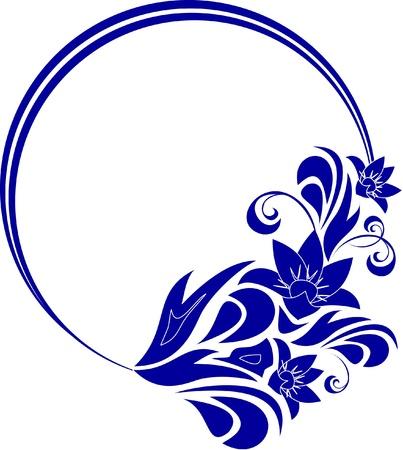 marcos decorativos: marco decorativo oval para el diseño en estilo de época Vectores