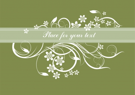floral background with decorative branch Illustration