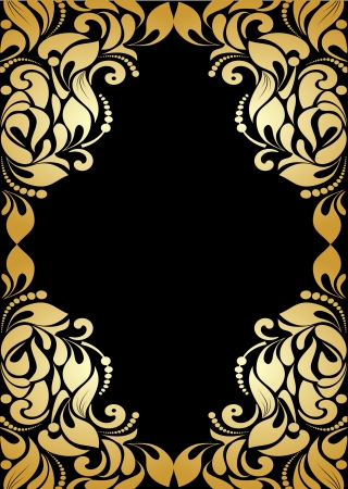 letras doradas: Fondo del modelo del vintage Vectores