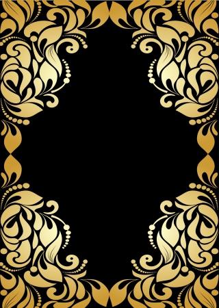 gold letter: vintage pattern background Illustration