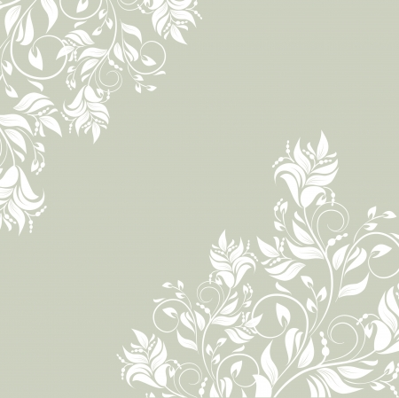 scroll design: Floral background with decorative branch Illustration