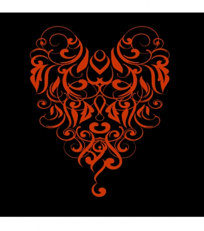 Design ornamental element in abstract style vectorized  Vector