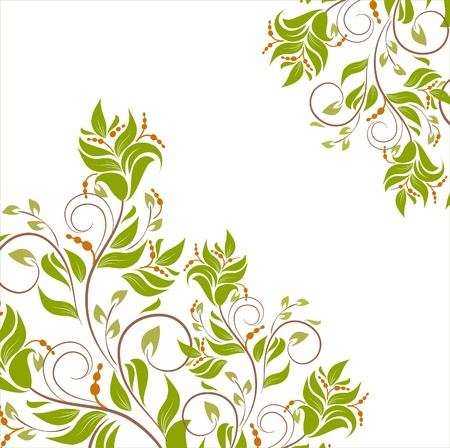 Floral background with decorative branch Stock Vector - 16844055