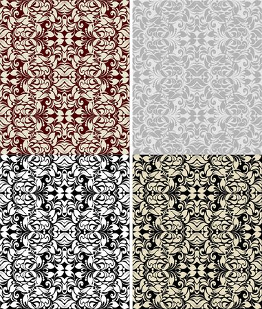 Set of seamless floral pattern  Illustration vector Stock Vector - 17550647