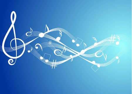 composer: Music theme background with musical note Illustration