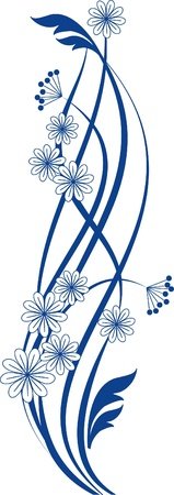 Floral pattern with decorative branch