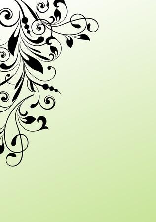floral corner: Design ornamental element in abstract style  Illustration