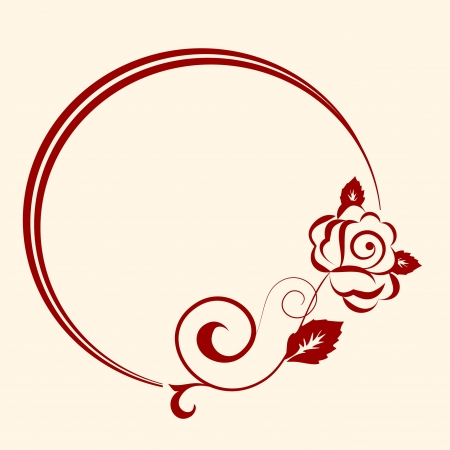 embroidery flower: decorative oval frame for design in vintage styled Illustration