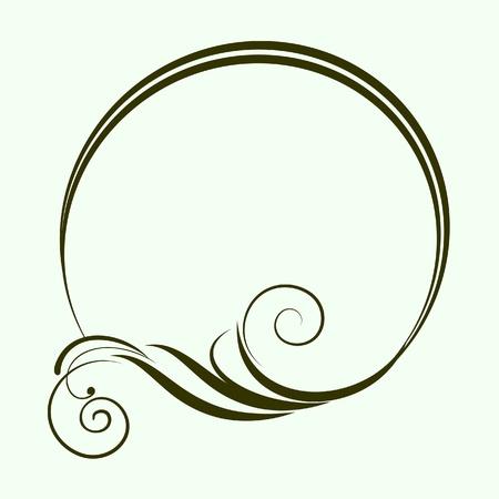 barok ornament: decoratieve ovale frame voor het ontwerp in vintage stijl