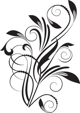 graphisme fond: Floral background abstrait avec la branche Illustration