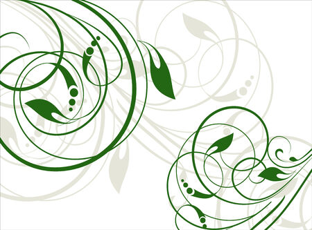 blumen abstrakt: Floral abstrakten Hintergrund mit Niederlassungen