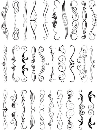 decorative elements: Set of decorative elements for editable and design