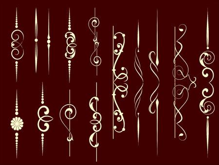 grecas: Conjunto de elementos decorativos para editable y diseño