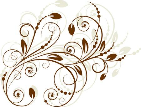 blumen abstrakt: Floral abstrakten Zweig auf Hintergrund