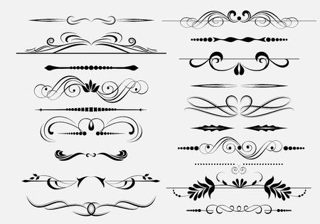 divider: Vector decorative design elements & page decor