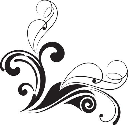 floral corner: Abstract curve background. Decorative corner. Vector illustration. Illustration