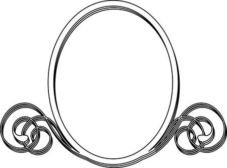 Oval frame on white background Illustration