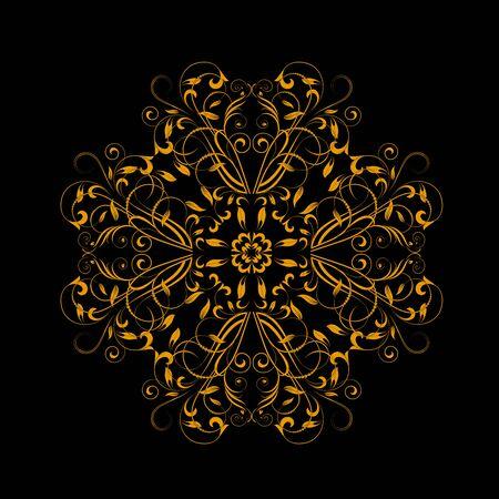 calligraph: Ornamental floral element for design in vintage stile.