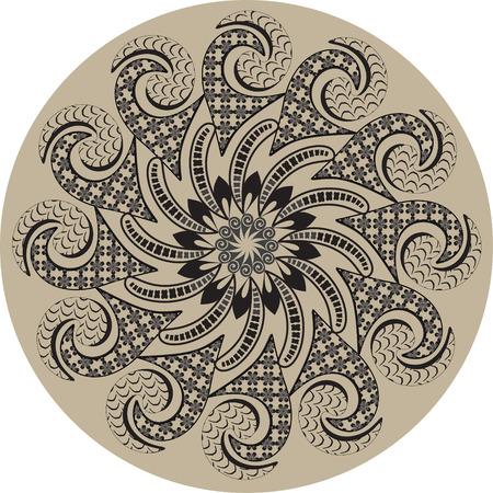 vectorized: Mandala. Round Ornament Pattern.  Design Element vectorized. Illustration