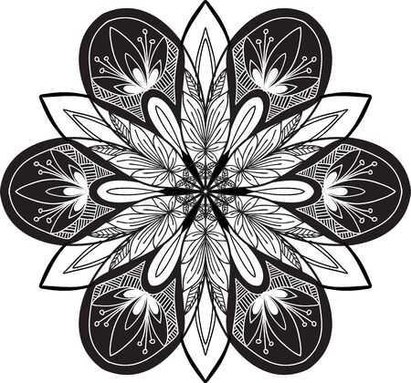 bordure de page: Hand drawn fond. Mandala. Élément de cercle géométrique. Illustration