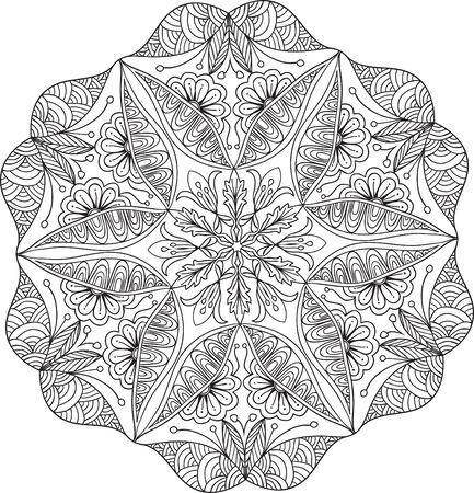 Hand drawn background. Mandala. Geometric circle element