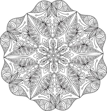 Hand drawn background. Mandala. Geometric circle element