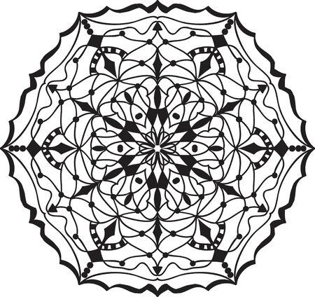 arabesco: Mandala. círculo elemento geométrico.