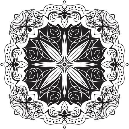 mandala: background. Mandala. Geometric circle element. Illustration