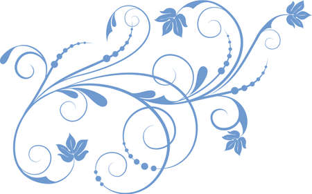 swirl design: Floral background with decorative branch. Vector illustration.