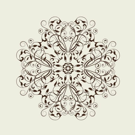 ビンテージ スタイルのデザインの装飾花の要素です。