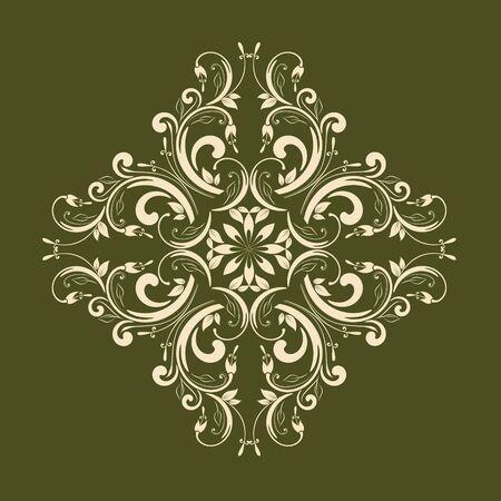arabesco: Elemento floral ornamental para el diseño en estilo vintage. Vectores