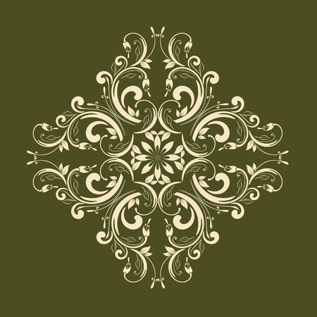 retro pattern: Ornamental floral element for design in vintage stile.