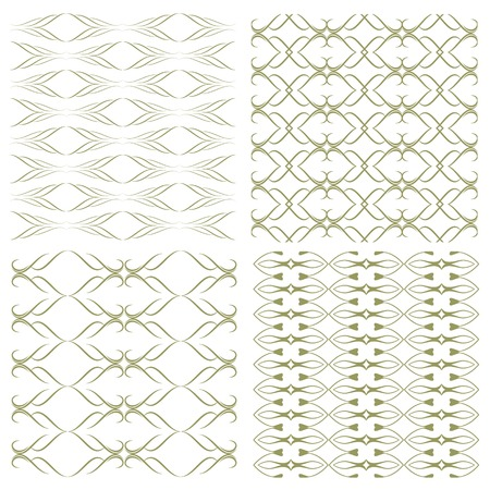 decorative patterns: Set of seamless patterns with abstract decorative ornament. Illustration