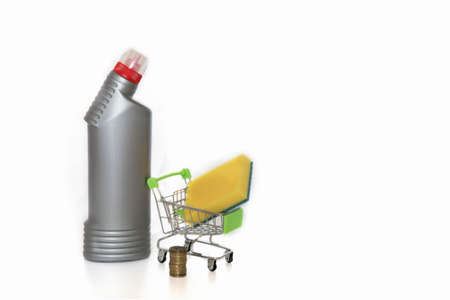 saving money on household chemicals, a reasonable approach to cleaning and preserving the environment Stock fotó