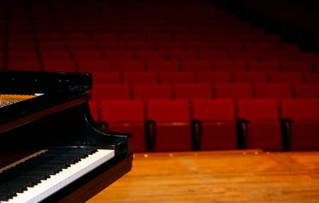 Concert grand piano, view from stage